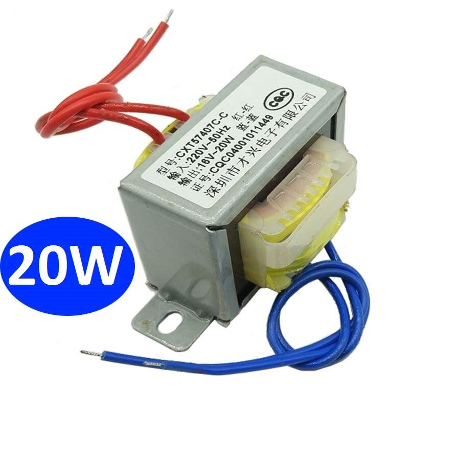 محول الطاقة 1 قطعة 20 واط, محول الطاقة 1 قطعة 20 واط EI نوع محول التيار المتناوب 220 فولت/50 هرتز-مخرج تيار متردد فردي 16 فولت 1.2A