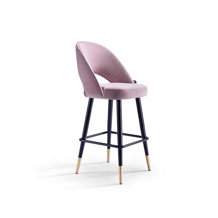 Современная дизайнерская барная мебель со скидкой, металлический черный барный стул с ножками