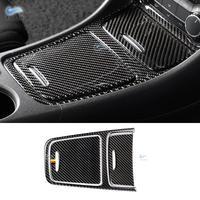 For Mercedes Benz A GLA CLA Class W176 X156 C117 Carbon Fiber Center Control Panel Cigarette Lighter / Storage Box Cover Trim