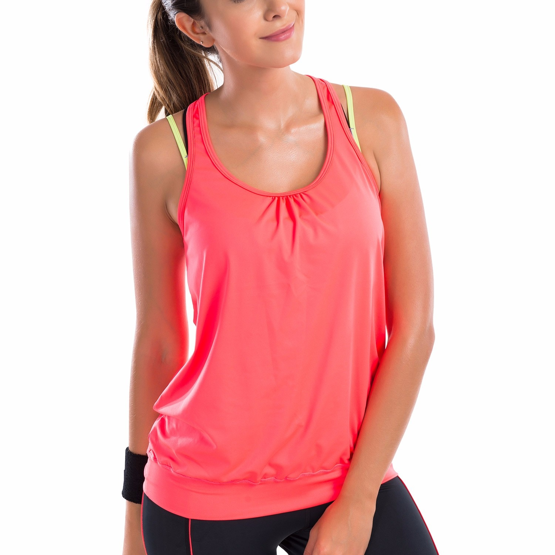 Женская Спортивная футболка для активного отдыха, длинная майка для йоги XS S M L XL