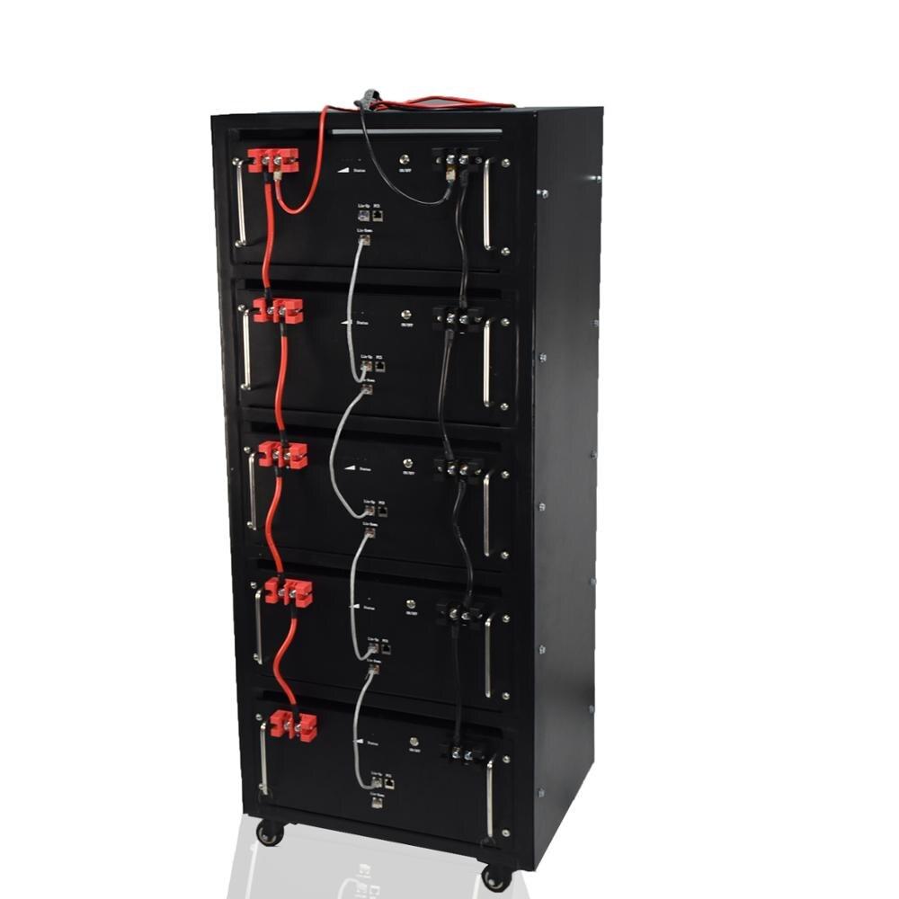 Powerwall 48 فولت 100 أمبير وحدة بطارية LiFePO4 الهجين/خارج الشبكة 24kwh أنظمة الطاقة الشمسية