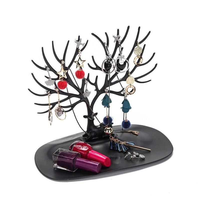 Estante de almacenamiento de collares cervatillo creativo, soporte de exhibición de joyería, colgante de joyería, colgante, pulsera, pendiente, estante organizador