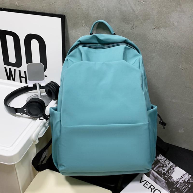 جديد على ظهره الإناث النسخة الكورية من النايلون بسيطة المدرسة المتوسطة حقيبة ظهر الطالب عادية سعة كبيرة حقيبة مدرسية الطالب