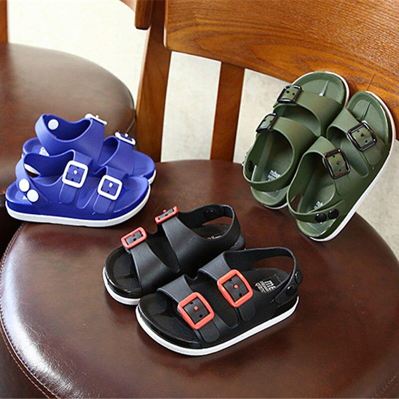 Детская обувь, новые летние сандалии для мальчиков, детские пляжные сандалии с мягкой нескользящей подошвой, детская обувь оптом, детская о...