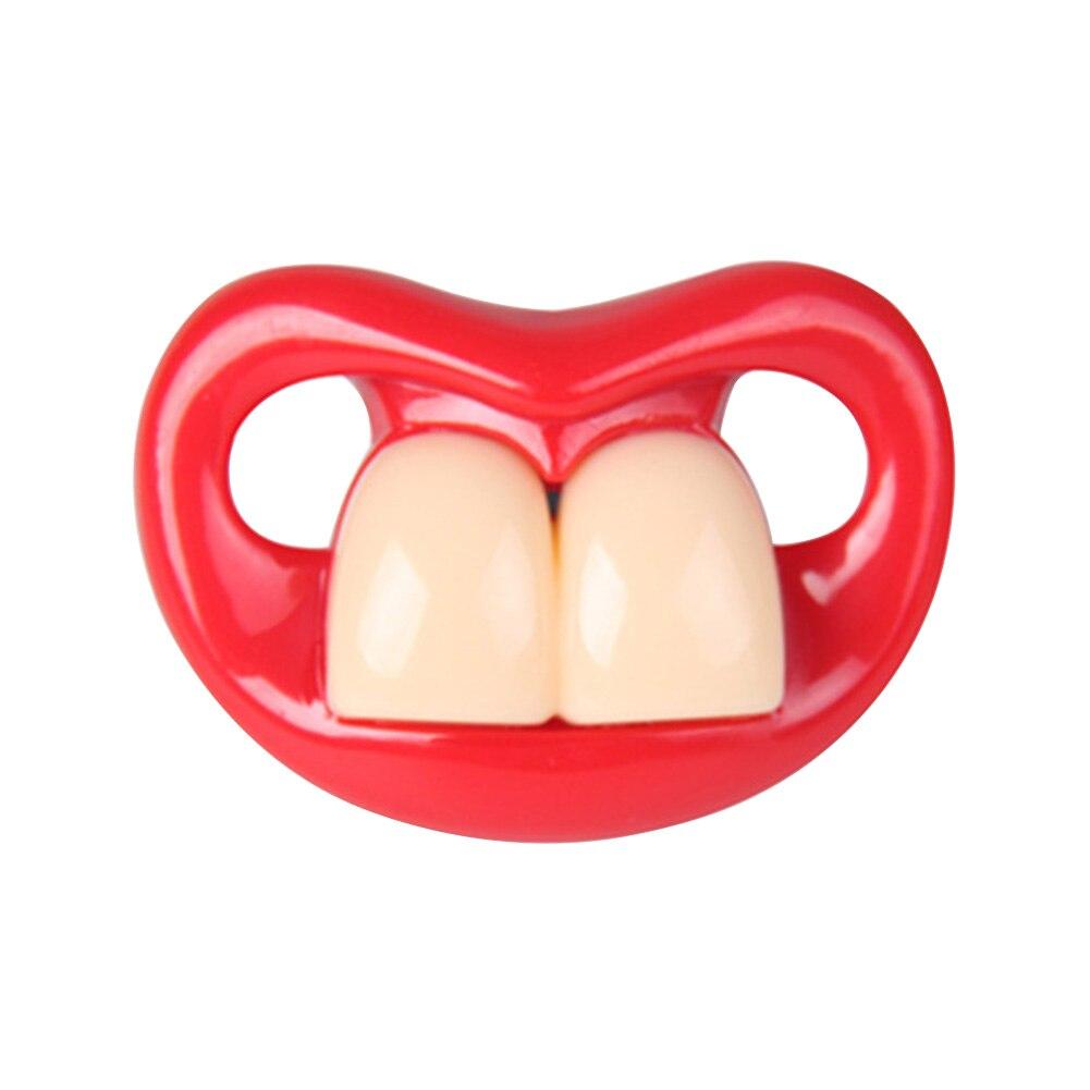 Chupete infantil Unisex portátil para el cuidado Dental, chupete infantil divertido para dormir, beso, labio, chupete, chupete de silicona para bebé, fácil de limpiar