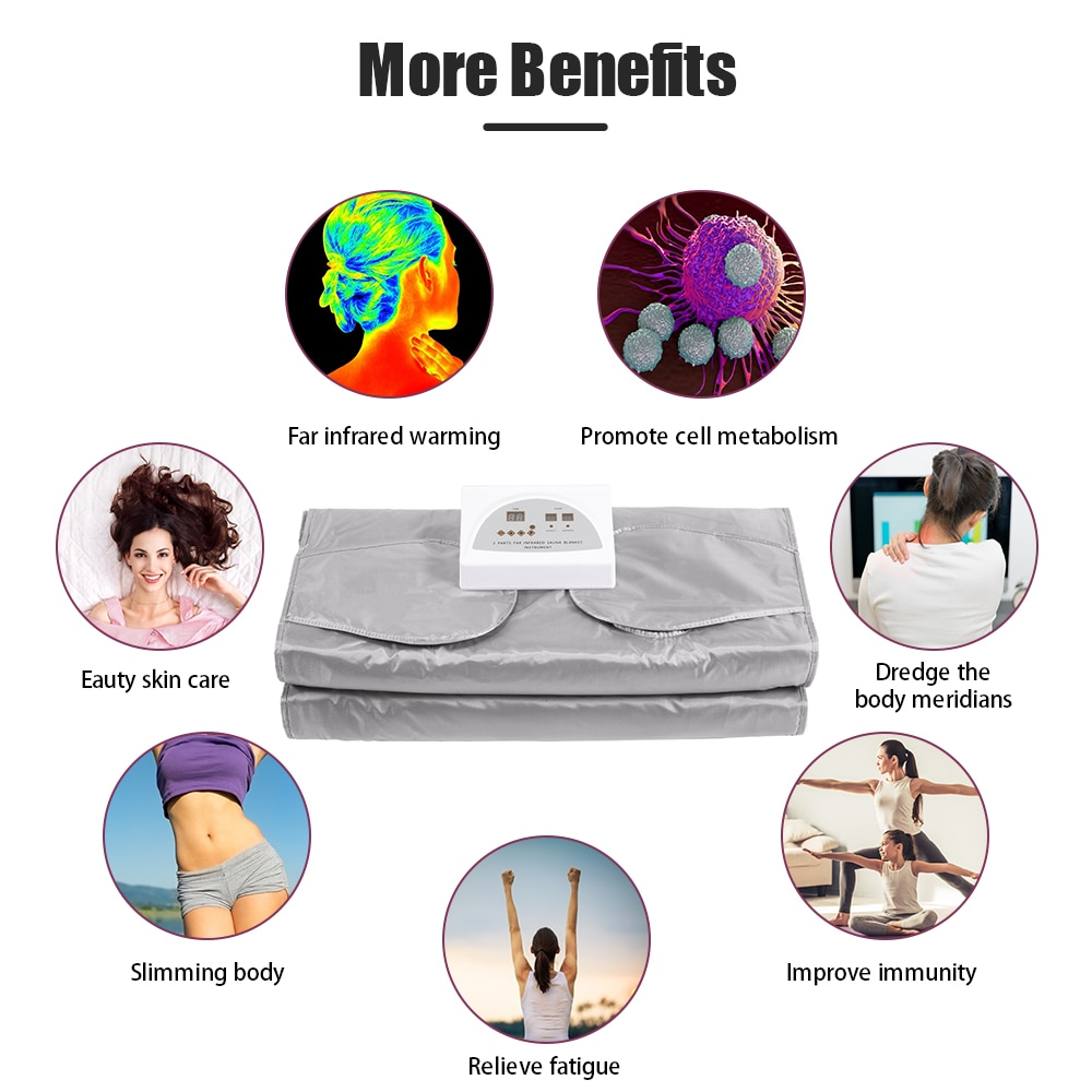 Sauna Blanket Digital Hot Sauna Blanket Body Shaper For Weight Loss And Fitness Hand-reachable Design With 50pcs Bath Bag enlarge
