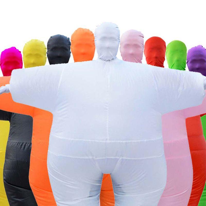 Inflável macacão de corpo inteiro cosplay traje adultos natal blowup outfits