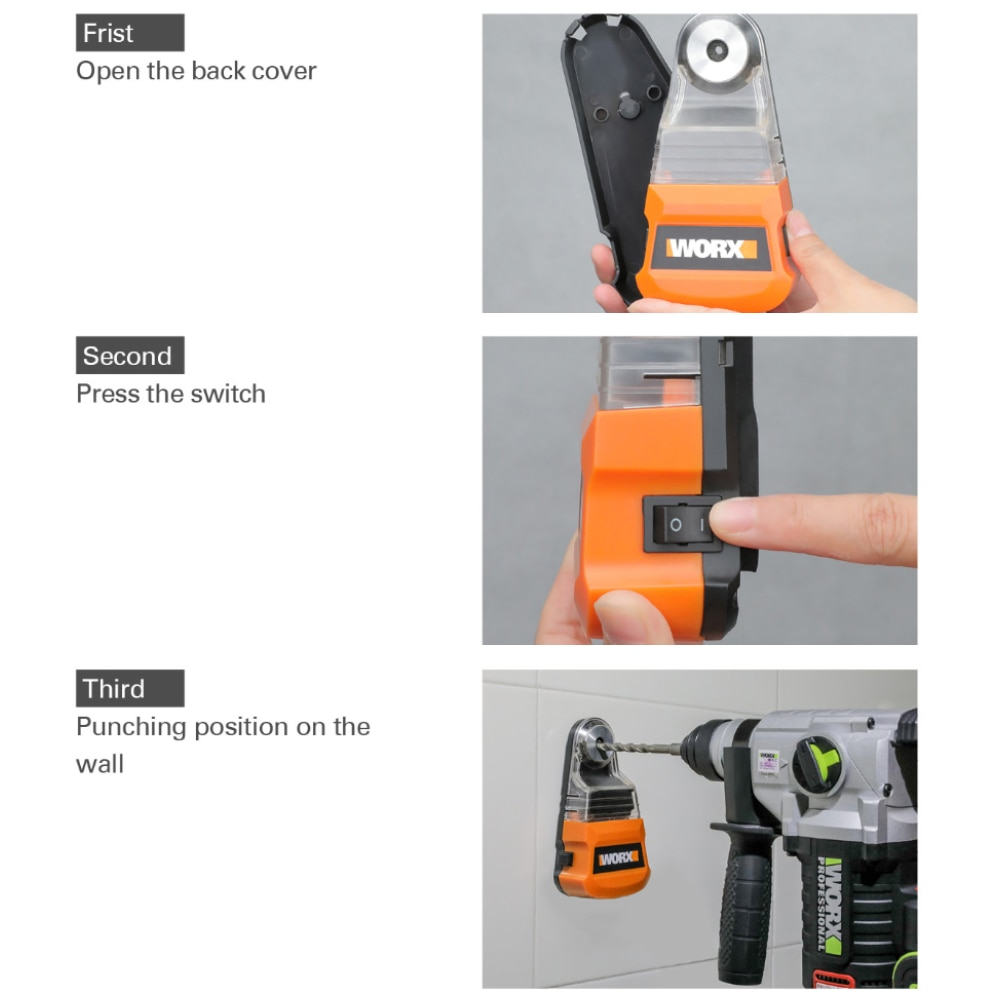 Worx dust box Collector for Cordless drill electric hammer Screwdriver WA1601 Dust removal Universal for diameter less than 10mm enlarge