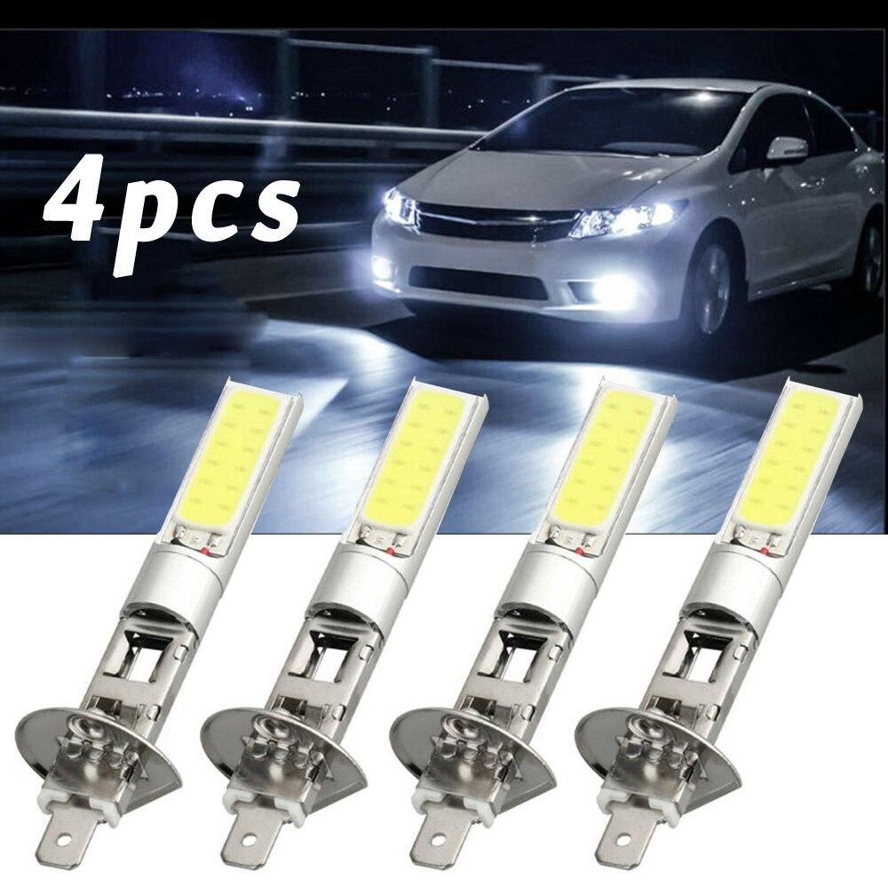 4 stücke Weiß H1 LED Scheinwerfer Hohe Abblendlicht Licht SMD Birne Fahrzeug Lampe 100W 12V Sicherheit Spannung doppel Isolierung