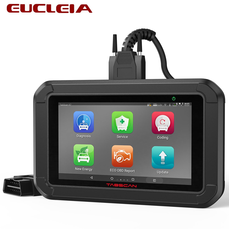 EUCLEIA Tabscan X7 OBD2 Diagnostic Scanner Full System Oil SAS BMS EPB TPS Reset Read Code Car Diagnostic Tools Free Shipping
