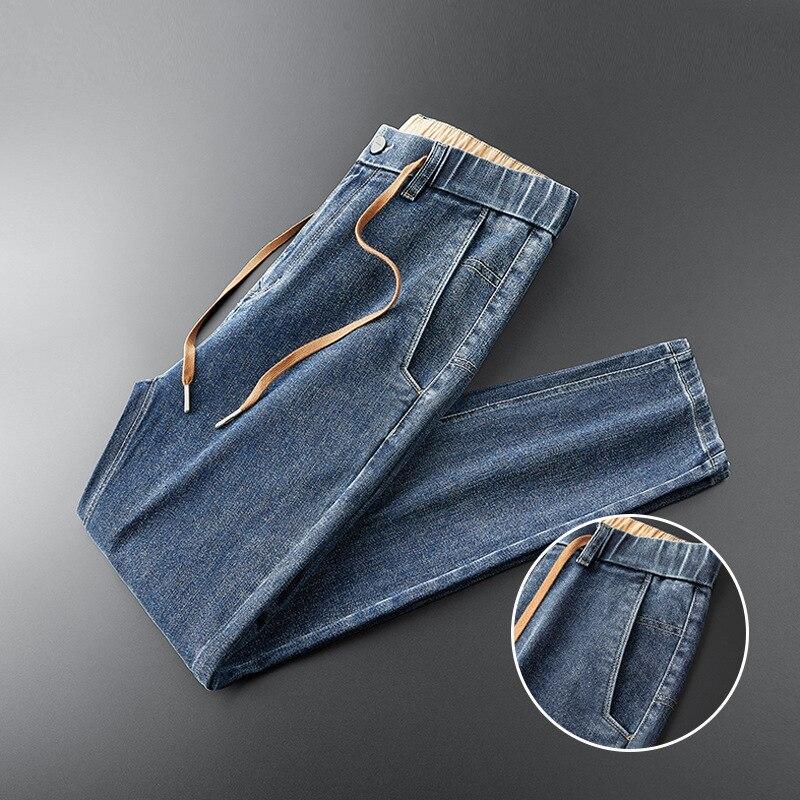 بنطلون جينز رجالي ، موضة جديدة ، قطن ، أنبوب مستقيم ، ميكرو ، كاجوال ، مرن ، مقاس كبير ، MLXL2XL3XL4XL5XL