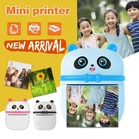 portable bluetooth panda thermal printer student mini pocket multifunction label fast printing home use office for photo album