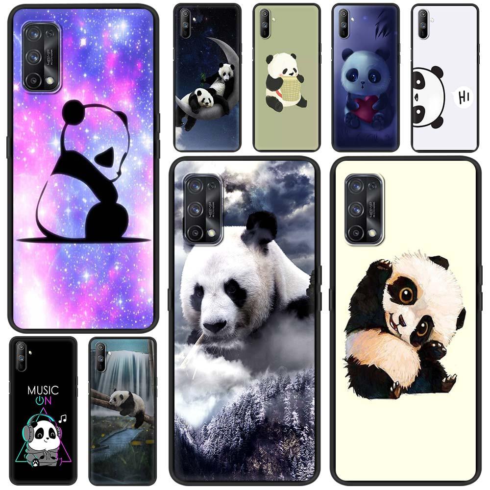 Funda de Panda para Realme 6, C3, 5 XT, 7, X50 Pro,...