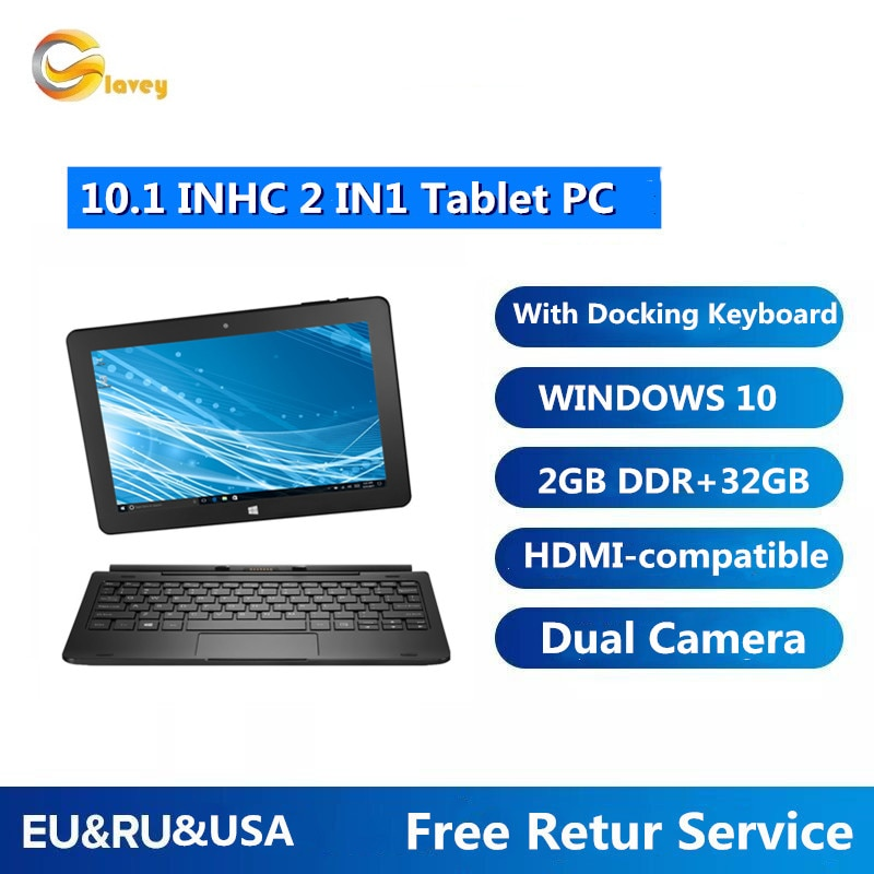 TYPE-C 2GB DDR3 +32GB 10.1 INCH W8100  Windows 10 TabletPCwith Pin Docking Keyboard DualCameras 32-Bit WIFI