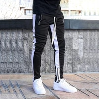 2021 new mens sports and leisure hit color tide brand fitness training pants muscle training comfortable running pants