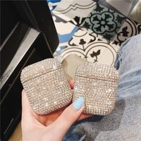 for airpods case luxury 3d bling diamonds glitter hard case for apple airpods pro 1 2 3 wireless bluetooth earphone cover