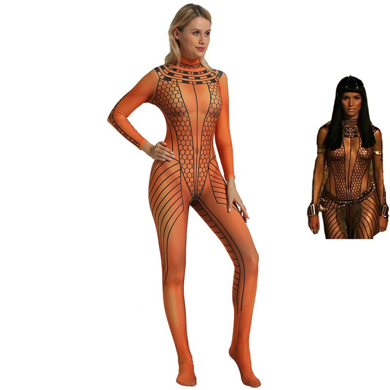 The Mummy Returns ANCK SU NAMUN Cosplay Costume Egypt Cleopatra Suit Egyptian Queen Jumpsuit Halloween Costume For Women Kids