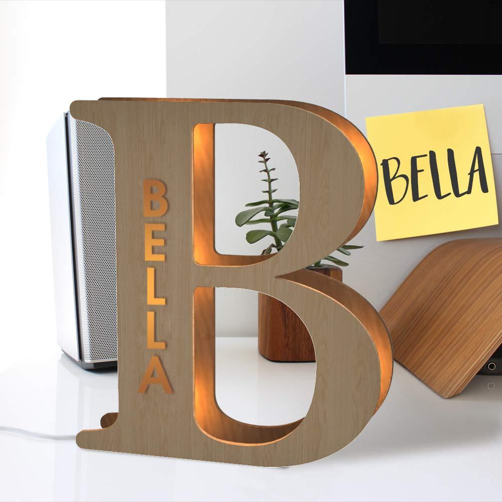 مصباح ليلي مخصص ، 24 سنتيمتر ، مع اسم VIP