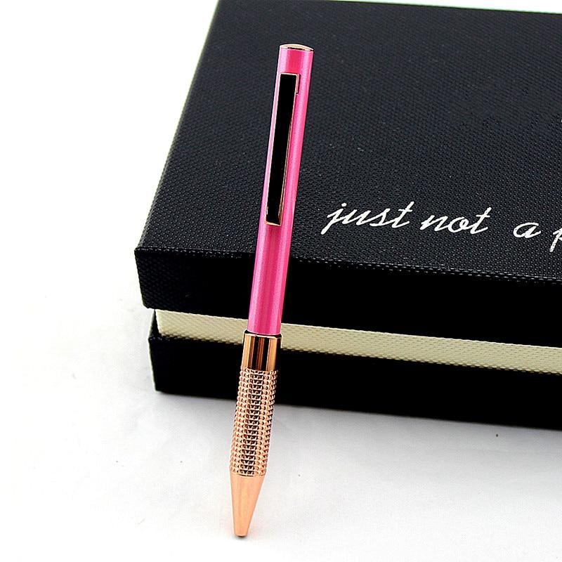 Fashion metal ballpoint pen business simple signature pen student writing pen office school stationery gift недорого