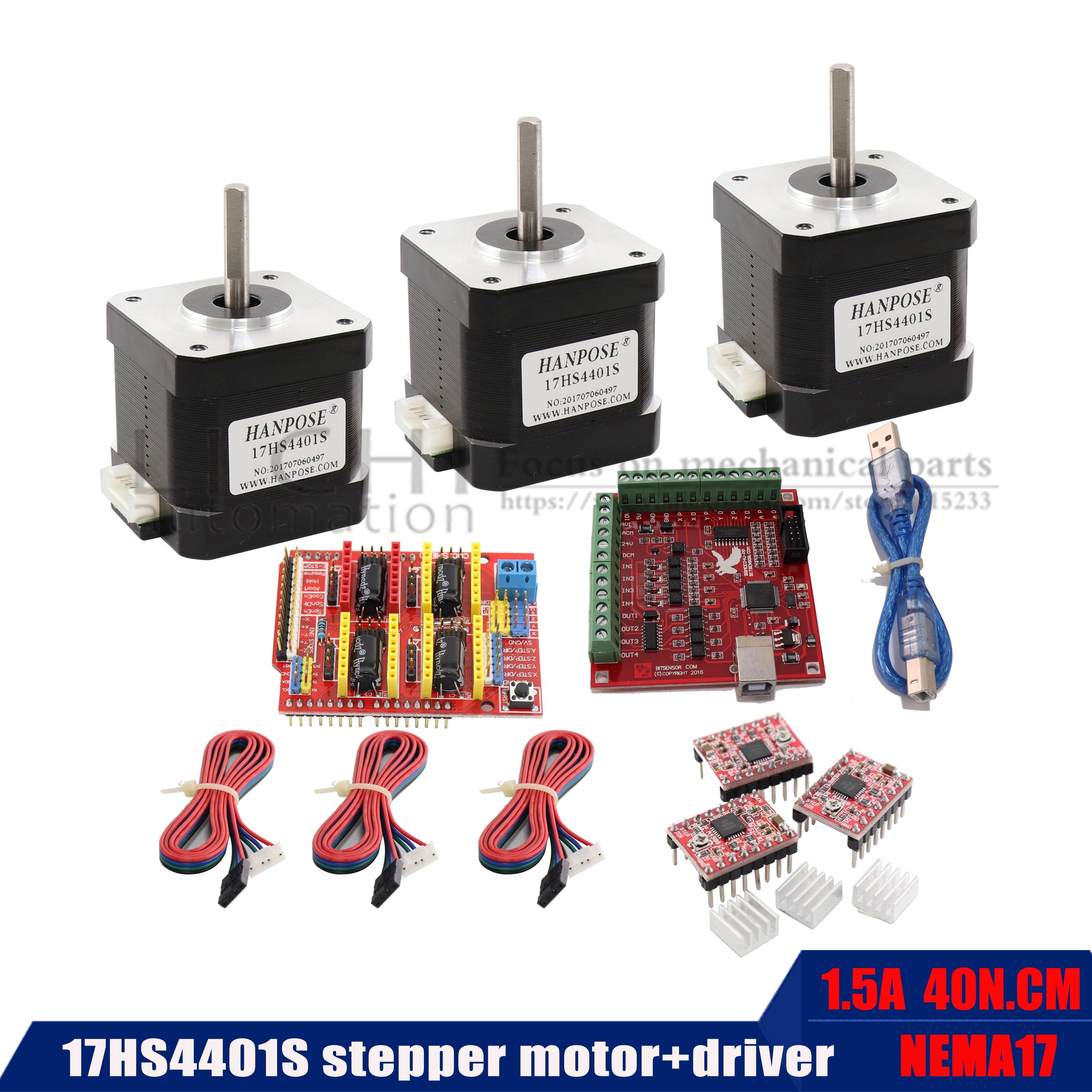 السائر 17HS4401S الجسم 4.0A + USB الطاقة تحكم + 3 قطعة سائق TB6600 3D الطباعة