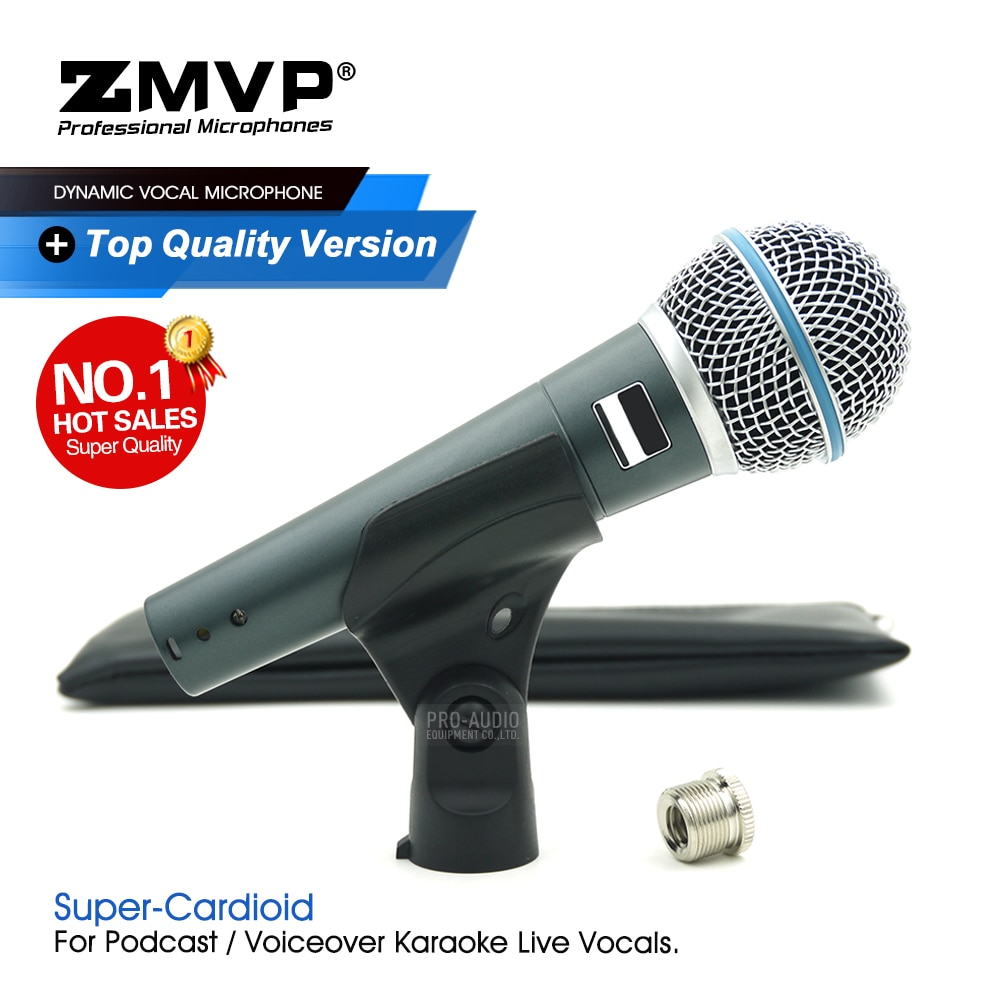 Grade A Quality BETA58A Professional Performance Dynamic Wired Microphone BETA Handheld 58A Mic For Karaoke Live Vocals Stage