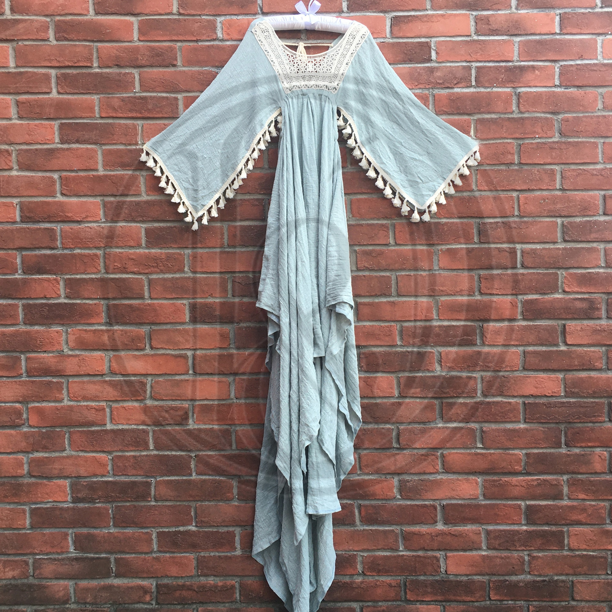 Boho Photo Shoot Princess Vintage Embroidery Cotton Little Girl Robe Kid Evening Party Dess for Children Photography Accessories enlarge