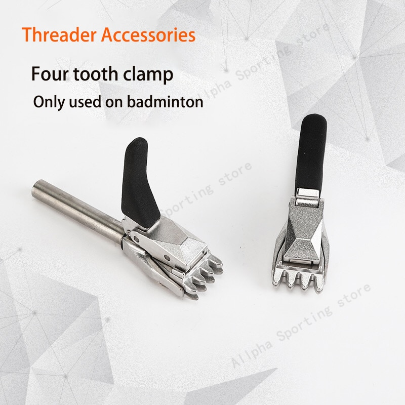 Alpha 1PCS Badminton String Machine Base Clip Threader Accessorie Flying Clamp-1.20mm Four Teeth Stringing Clamp for Badminton