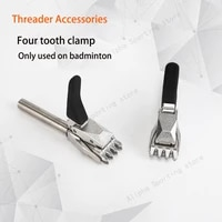 alpha 2pcs badminton string machine base clip flying clamp threader accessorie four teeth clamp 1 20mm for badminton