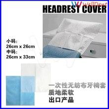 500 paquets appui-tête de chaise dentaire jetable Non-tissé appui-tête couverture dentaire matériel Oral