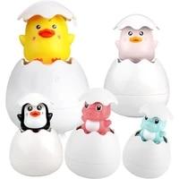 1 pcs cute cartoon animal dinosaur duck bath toys classic baby water toy baby swimming turtle kids beach bath clockwork toys