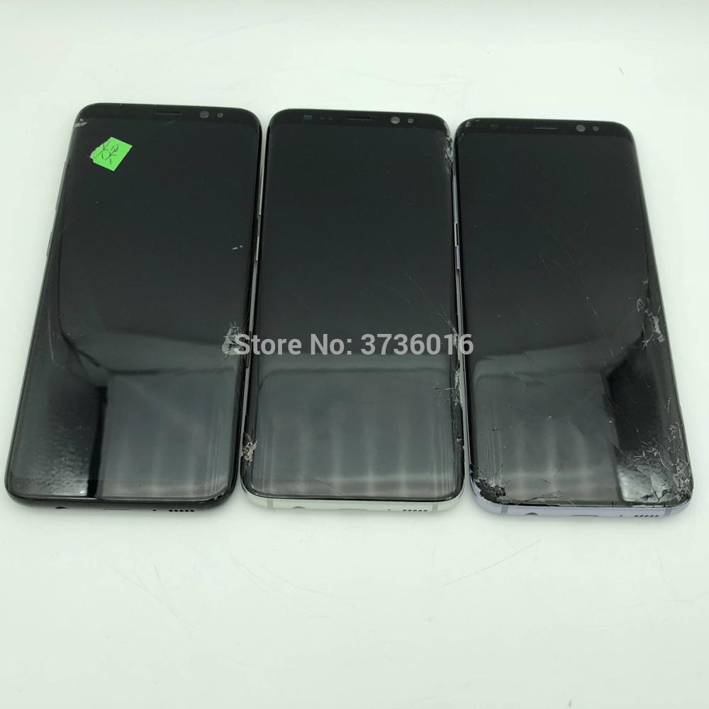 Broken LCD Display For Phone Galaxy S8 to S10 plus mobile phone practice how to do repair Lcds and s