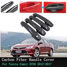 Car exterior accessories Chrome Carbon Door Handle Cover for Toyota Camry XV50 Daihatsu Altis Aurion 4Door 2012 2013 2014 ~2017