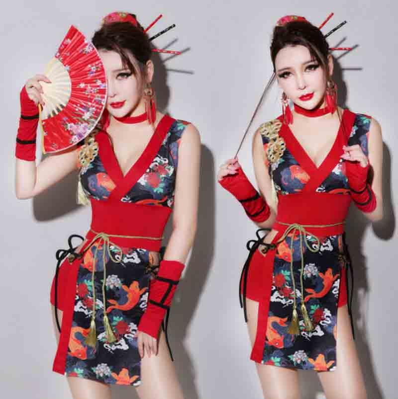 Peixes adultos Lady Geisha Traje das Mulheres Halloween Japonês Rainha Imperatriz Traje Cosplay Do Quimono Japonês Geisha Traje Para Lady