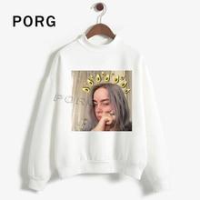 Billie Eilish Fans Punk Kawaii Hoodies Women Vintage Aesthetic Hoodie Gothic Funny Sweatshirt Bluzy Moleton Autumn Sudaderas 90s