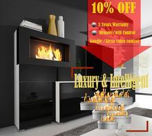 Inno living-cheminée commande vocale   30 pouces, Google home, cheminee, brûleurs déthanol bio