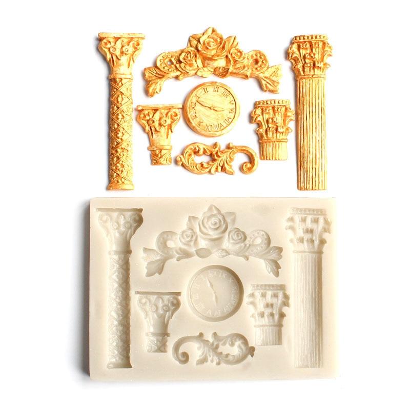 Flor de Rosa de silicona pastel molde fondant molde herramientas de decoración de pastel de chocolate pastillaje jabón vela molde