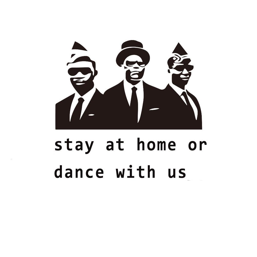 Ataúd DANCE divertida Calcomanía para auto Stay At Home o Dance With Us Car Styling vinilo calcomanía coche pegatina ataúd DANCE
