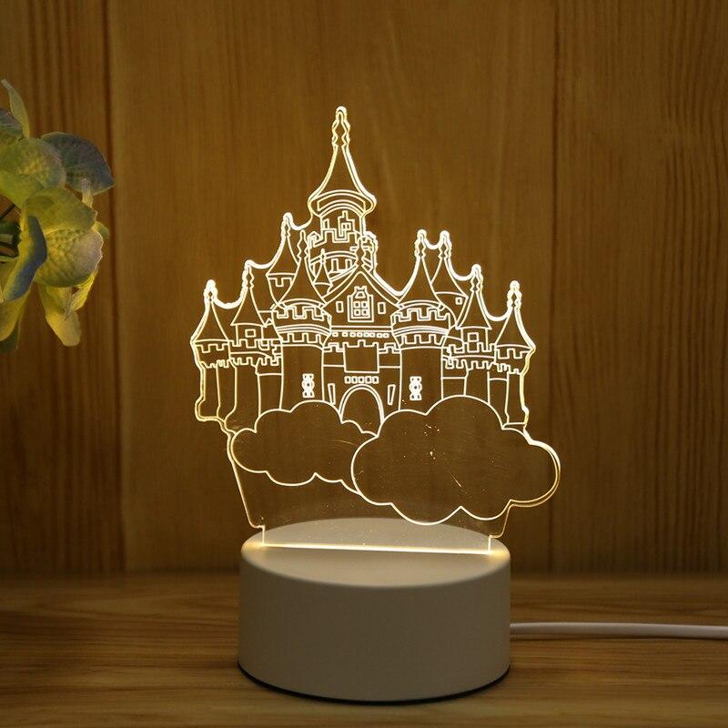 3D LED desk lamp, jellyfish luminous lamp, ABS+ resin design, suitable for children's bedroom