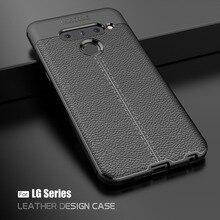 for LG V50 Case V40 V30s V30 G8 ThinQ cover G8s G7 G6 Q6 Q7 K9 Q Stylus Stylo 4 anti-shock soft silicone phone cover capa coque