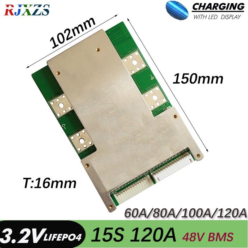 Плата защиты аккумулятора 15S 120A 54V Version S LiFePO4 BMS/PCM/PCB для 15 упаковок 18650