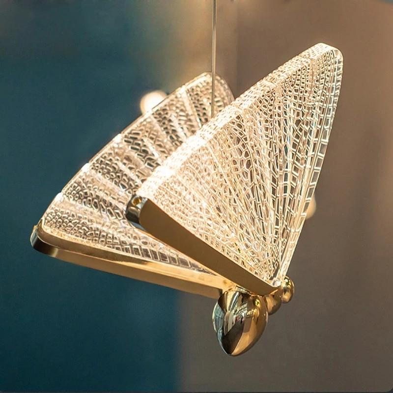 Butterfly Chandelier Indoor Lighting Nordic Bedside Staircase Luxury Long Line Lamp Modern Bedroom Restaurant Art Hanging Lamp