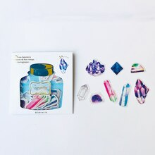 48 Sheets /Pack Golden Stamping Colorful Diamond Decorative Stickers Diary Phone Notebook Decoration