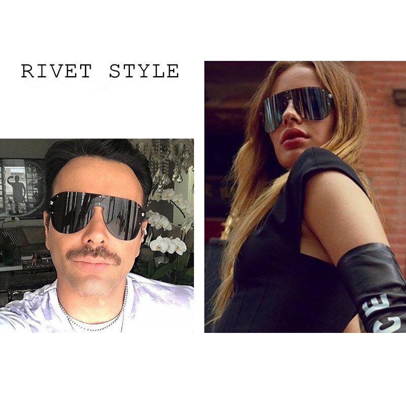 Fashion Sun Glasses For Men And Women Wind-Proof Driver Goggles Large Full Frame Metal Siamese-style