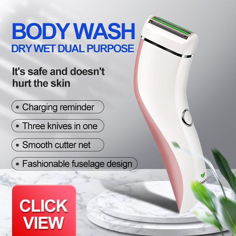 Women Epilator Electric Hair Removal Lady Men Whole Body Shaver Private Bikini Legs Shaving Portable