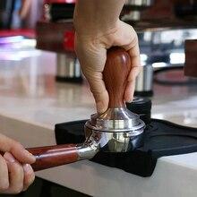 Пищевая кофейная пудра, деревянная ручка молотка, бобовые тампоны, плоская рябь, тампер, коврик бариста, эспрессо, кофемолка, инструмент для ...