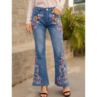 womens casual bell bottom jeans fashionable and exquisitely embroidered slim slimming flared jeans %d0%b6%d0%b5%d0%bd%d1%81%d0%ba%d0%b8%d0%b5 %d0%bf%d0%be%d0%b2%d1%81%d0%b5%d0%b4%d0%bd%d0%b5%d0%b2%d0%bd%d1%8b%d0%b5 %d0%b4%d0%b6%d0%b8%d0%bd%d1%81%d1%8b