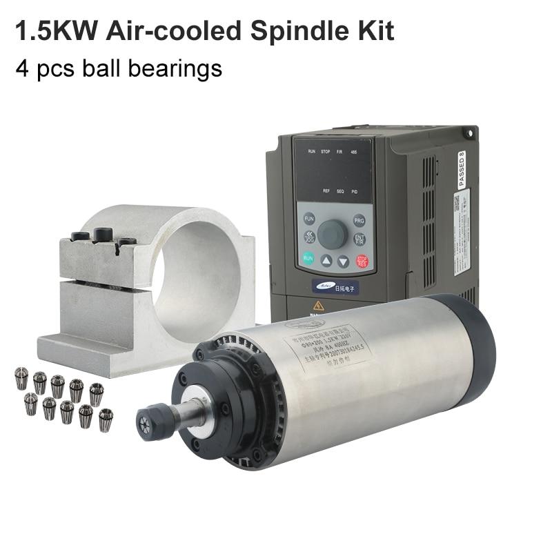 نك طحن المغزل 1.5kw تبريد الهواء المغزل VFD محول تردد 80 مللي متر قوس ER16 ER11 تشاك ، نك راوتر الخشب لإزالة الزوائد وتشكيل القطع نحت