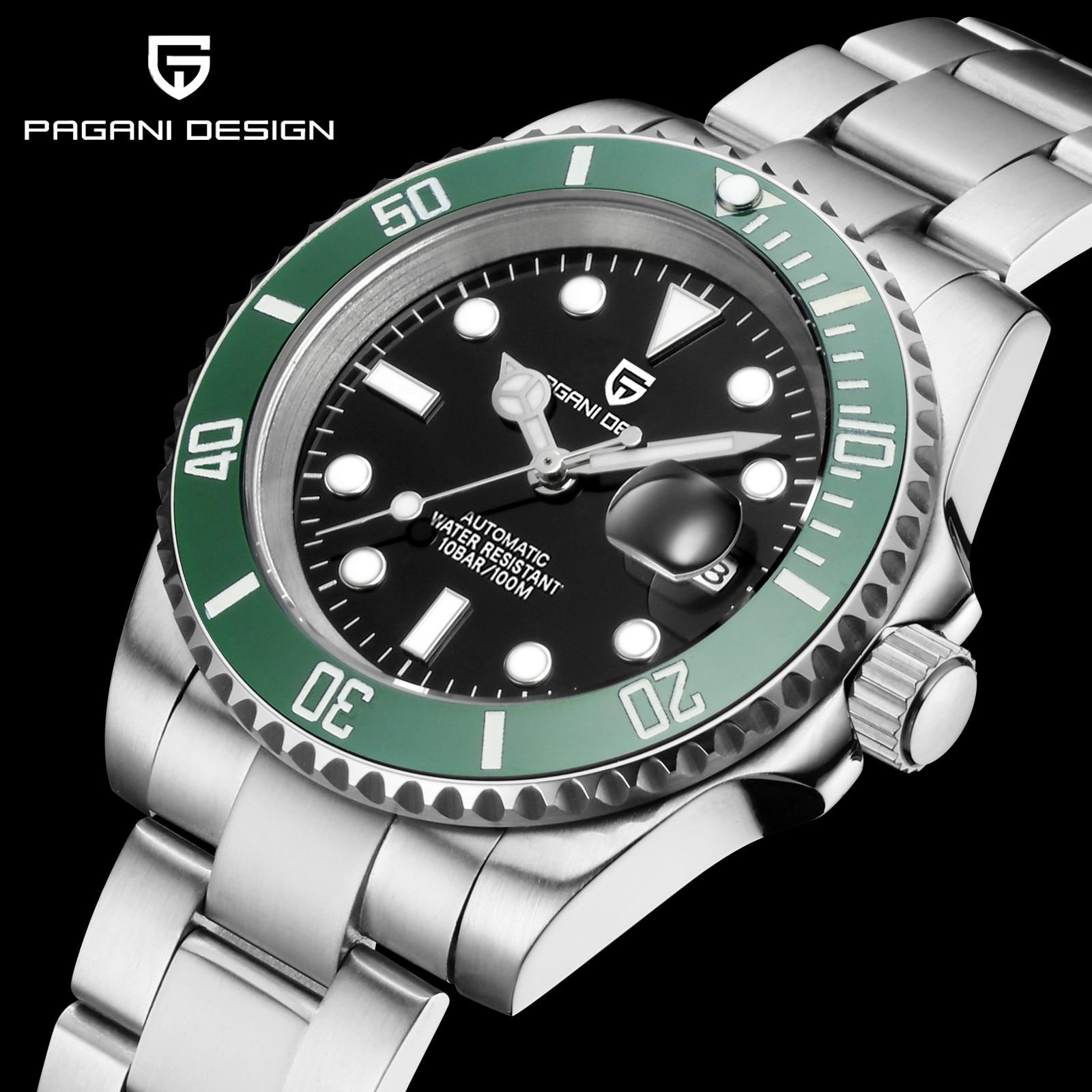 2021 Pagani تصميم جديد 40 مللي متر ساعات آلية فاخرة رجال الأعمال ساعة أوتوماتيكية العلامة التجارية الأعلى الفولاذ المقاوم للصدأ مقاوم للماء على مد...