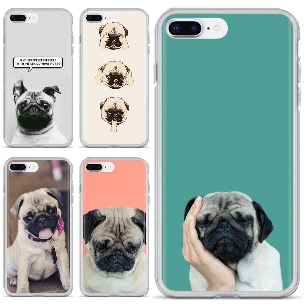 Funda de silicona para Motorola Moto G G2 G3 X4 E4 E5 G5 G5S G6 Z Z2 Z3 C jugar Plus Animal perro estampado