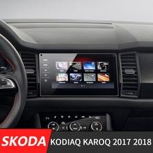 8 zoll/254*134mm Für Skoda Kodiaq Karoq 2017 2018 Auto GPS Navigation LCD Screen Glas Stahl schutz Film